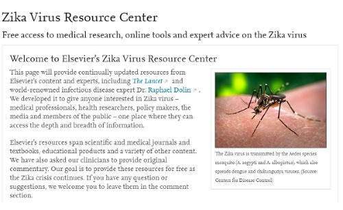 elsevier zika