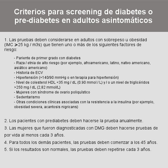 criterios screening prediabetes